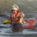 Ganesh devotees in Pune prefer to immerse Lord Ganesh idol in flowing water