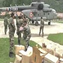 J&K relief operations :Stone pelters target choppers, planes, boats