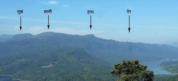 Ramaboda' and 'Ravanaboda' mountains in 'Nuwara Elia' city