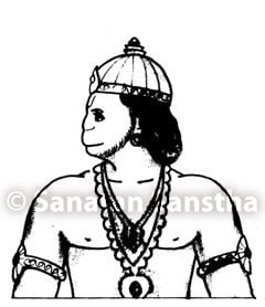 Hanuman facing south