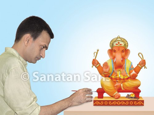 What is the ideal way of making Shri Ganesh Murti (Idol of