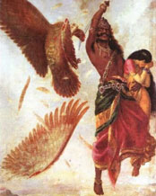 Ravan, Sita and Jatayu (As per Ramayana)