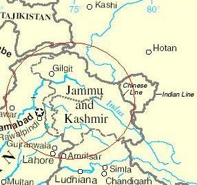 Map Of India And Pakistan Border.Loc Is Not Border Hindu Janajagruti Samiti
