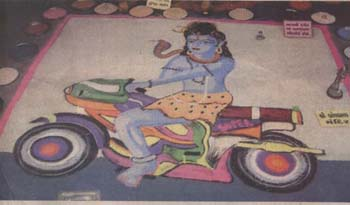 Hindu God Shiv Sankar Driving Bike, Motorcycle or Bicycle Photos for free download