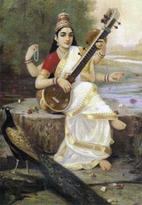 Famous Saraswati Painting