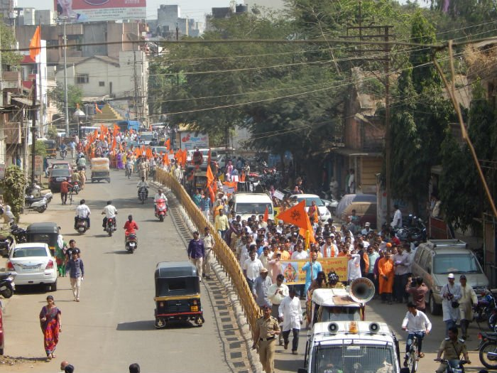 Mammoth procession in Kolhapur against the corruption by PMDS