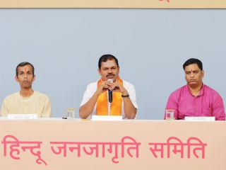 Press conference of Hindutva-vadis from Sri Lanka and Southern part of India held during 4th Akhil Bharatiya Hindu Convention