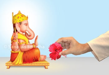 Ganapati_red_flower
