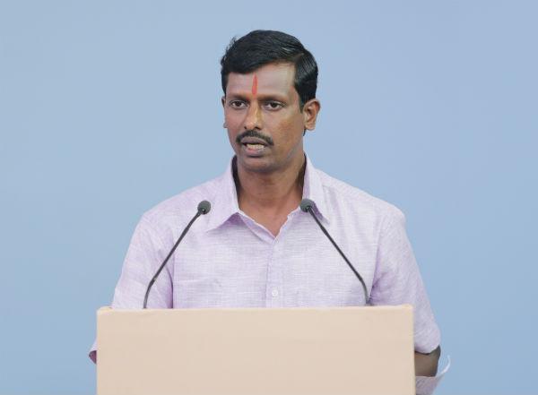 Shri. Jayadevan, Treasurer and Advisor, Arya Vidya Samaj (AVS), Kerala