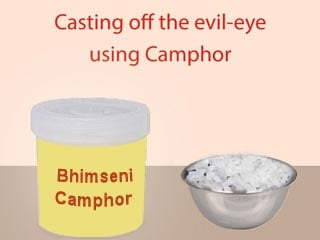 Method of casting off the evil-eye using Camphor - Sanatan