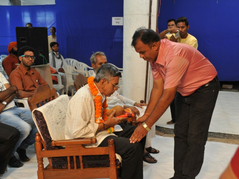 Felicitation of Pu. Sharadji Vaishampayan