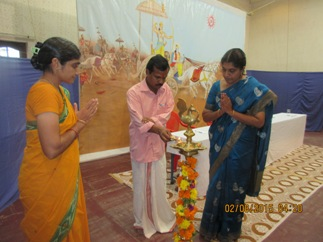 Shri. V. R. Madhusoodanan lighting the lamp