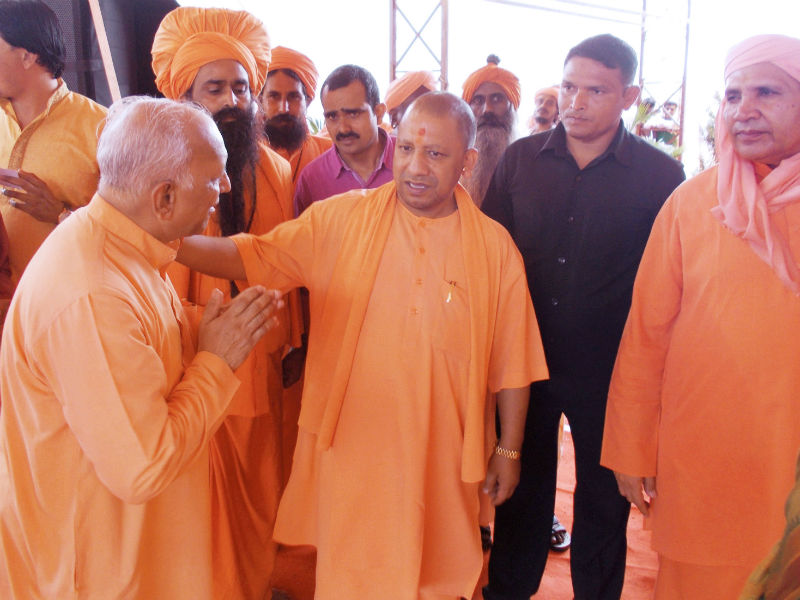 Yogi Adityanath in coversation with Puya Nandkumar  Jadhav