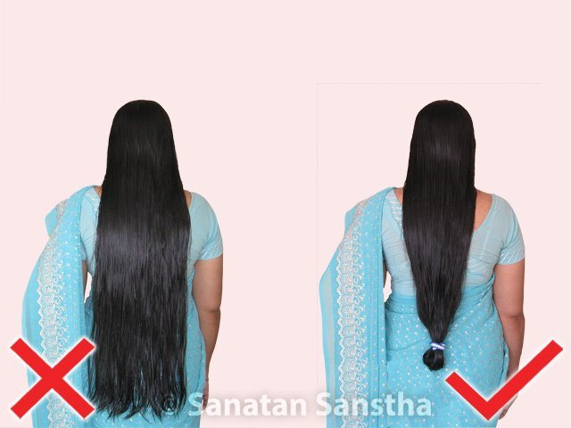 Why should women not go out with loose hair ? - Hindu
