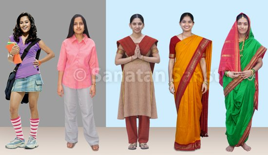 Subtle Effect And Importance Of Dress Worn By A Woman Hindu