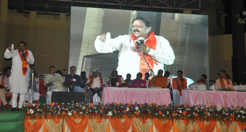 Bengaluru : Shri. Murali Sharma 'Bharat Raksha Manch', Odisha addresing in rally