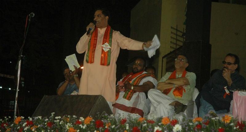 Bengaluru : Shri. Ramesh Shinde addressing in rally
