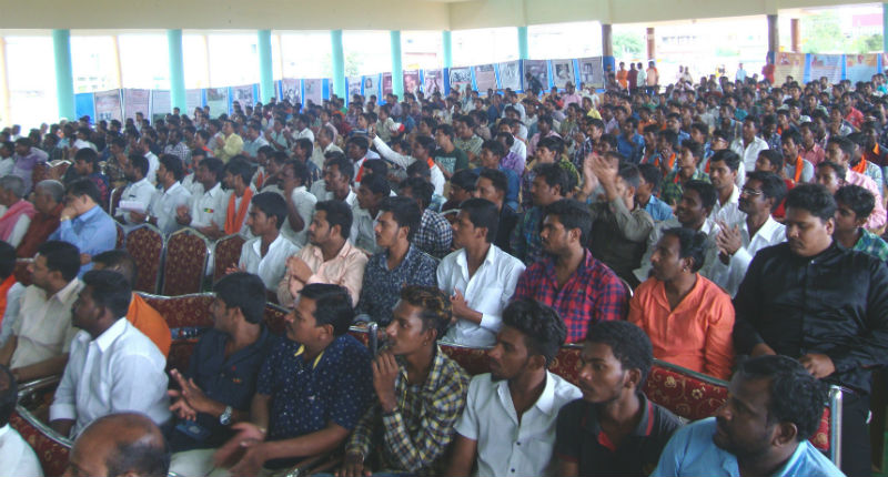 Indur (Telangana) : Devout Hindus attending the rally