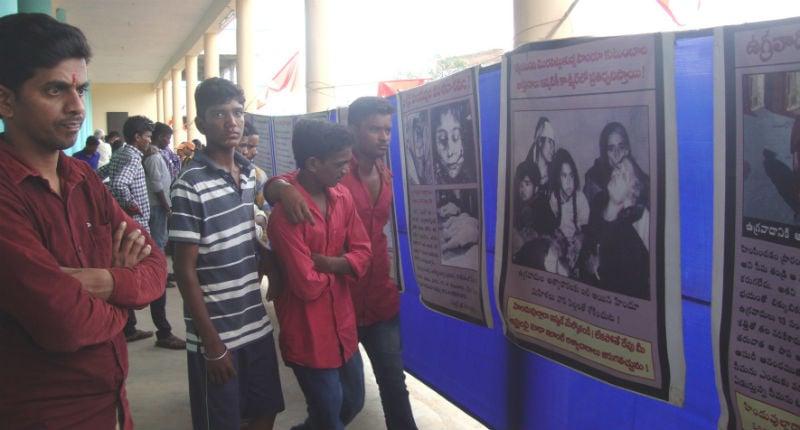 Indur (Telangana) : Devout Hindus watching the exhibition
