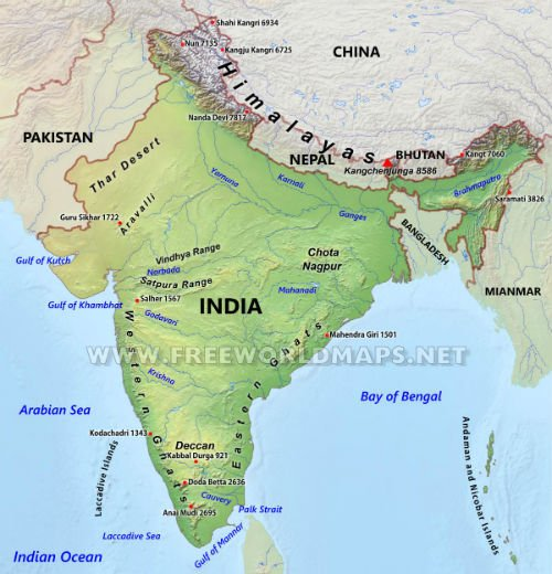 Distortion of the Indian map on FreeWorldmaps.net website - Hindu ...