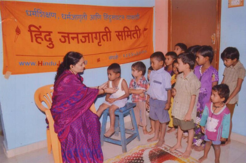 Medical check-up camp for small children at Satara