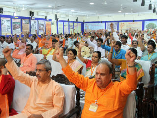 Proclamation of Hindu Rashtra through loud slogans reaching the sky