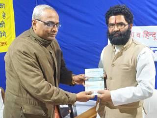 'Ganga Avhan Andolan' promoter Hemant Dhyani visits Sanatan's book exhibition