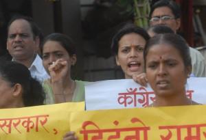 HJS Activists Protesting M. Karunanidhi