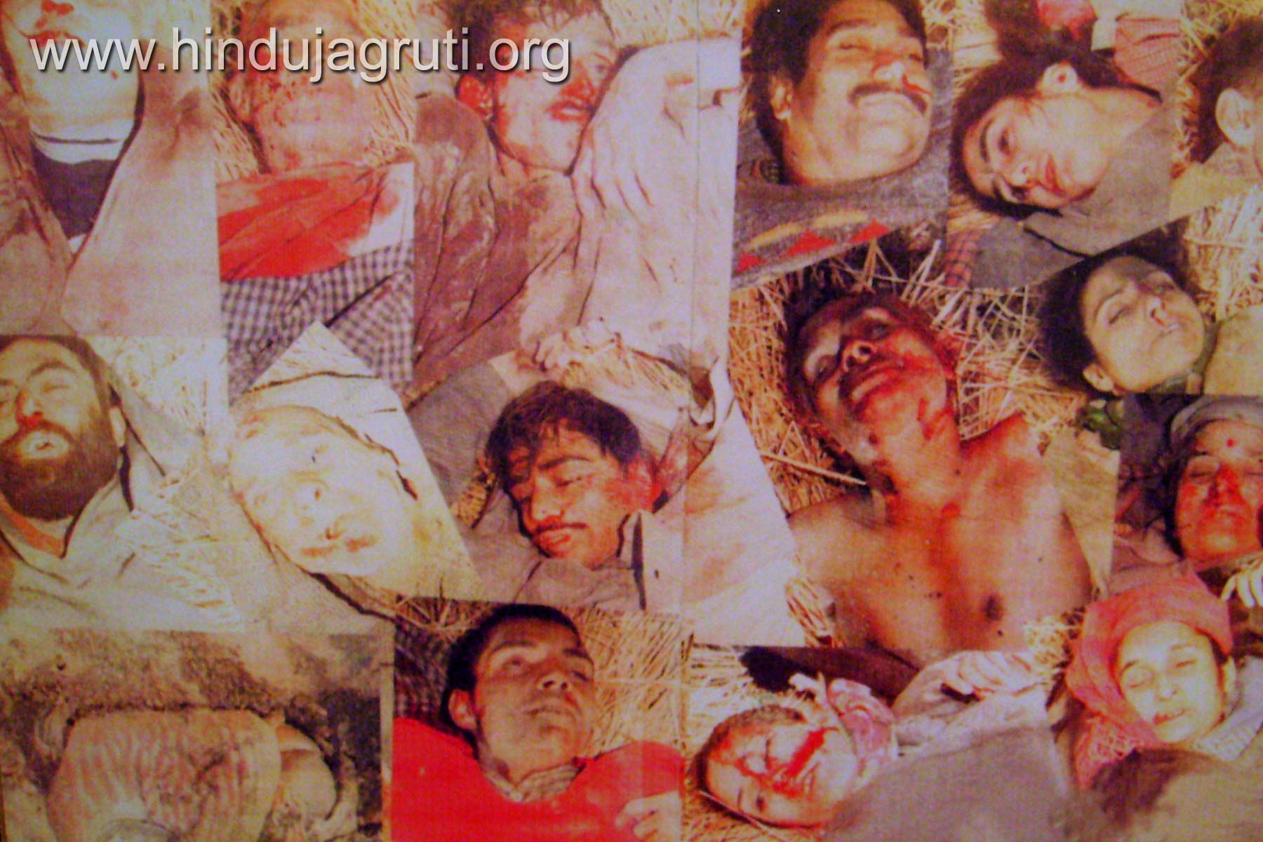 1. Victims of Wandhama massacre. Twenty three Hindus were killed by Islamic terrorists.